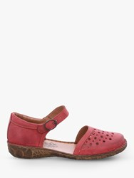 Josef Seibel Rosalie 19 Two Part Ankle Strap Sandals Hibiscus Leather