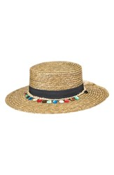 Peter Grimm Clau Straw Resort Hat Brown