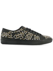 Saint Laurent Studded Low Top Sneakers Black
