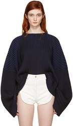 Y Project Blue Oversized Crew Pullover