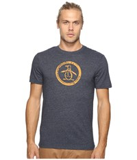 Original Penguin Triblend Distressed Circle Logo Tee Dark Sapphire 1 Men's T Shirt Blue