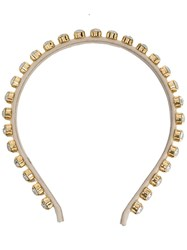 Ca And Lou Clotilde Crystal Embellished Hair Band Gold
