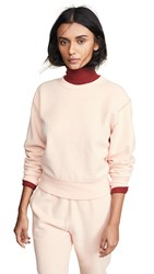 Rag And Bone Jean Brushed Inside Out Terry Sweatshirt Dusky Pink