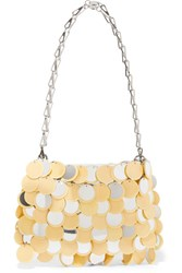 Paco Rabanne Sparkle 1969 Sequined Faux Leather Shoulder Bag Yellow
