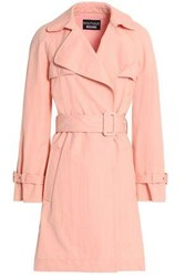 Boutique Moschino Cotton Blend Twill Trench Coat Pastel Pink