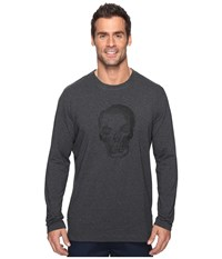 Robert Graham Bandits Long Sleeve Knit T Shirt Charcoal Men's T Shirt Gray
