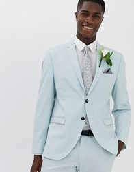 Selected Homme Slim Suit Jacket In Light Green