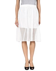 Clover Canyon 3 4 Length Skirts White