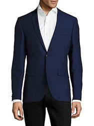 Hugo Boss Adris Modern Fit Striped Blazer Black