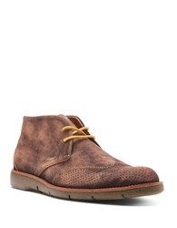 Donald J Pliner Washed Suede Chukka Boots Brown