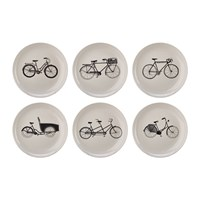 Pols Potten Bikes Salad Plates Set Of 6