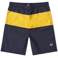 Fred Perry Block Panel Swim Short Blue