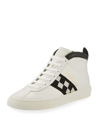 Bally Vita Parcours Retro Lamb Leather High Top Sneakers Black