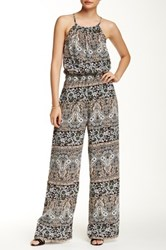 Romeo And Juliet Couture Flare Bottom Jumpsuit Gray