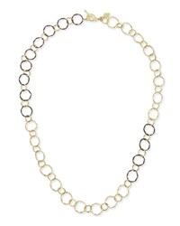 Armenta Midnight And 18K Circle Link Necklace
