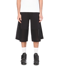 Astrid Andersen Jersey And Mesh Shorts Black