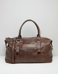 Barney's Barneys Leather Explorer Holdall In Brown Brown