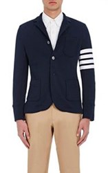 Thom Browne Men's Terry Two Button Jacket Blue