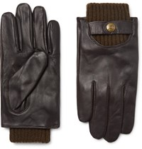 Dents Buxton Touchscreen Leather Gloves Brown
