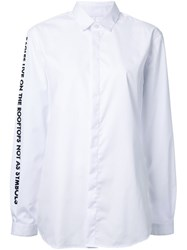 Each X Other Quote Sleeve Shirt White