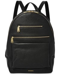 Fossil Piper Leather Backpack Black
