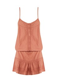 Melissa Odabash Karen Lace Trimmed Cotton Beach Dress Pink