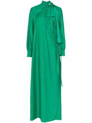 Rosie Assoulin Wrap Maxi Dress Green