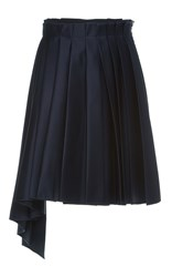 Dice Kayek Pleated Mini Skirt Navy