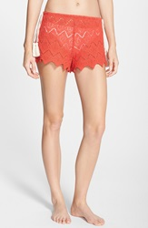 Eberjey 'Dylan' Lace Cover Up Shorts Paprika