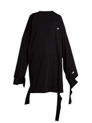 Vetements X Champion Cotton Blend Oversized Dress Black