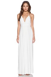 T Bags Losangeles X Back Maxi Dress White