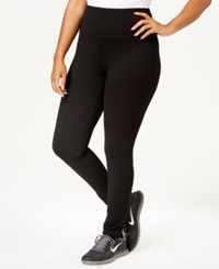 Style And Co. Petite Tummy Control Active Leggings Only At Macy's Deep Black