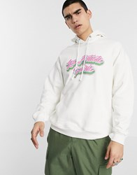 Les Artists Art Ists Airbrush Hoodie In Ivory White