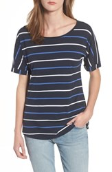 Barbour Marloes Stripe Top Navy Nautical Blue White