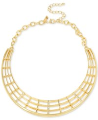 Inc International Concepts M. Haskell For Gold Tone Openwork Collar Necklace Only At Macy's