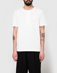 Christophe Lemaire Henley Tee Shirt In Chalk