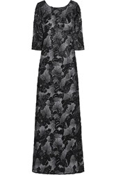 Mikael Aghal Embellished And Embroidered Tulle Gown Black