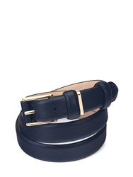 Aspinal Of London Ladies Westbourne Belt In Smooth Navy Blue