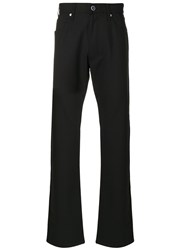 Armani Jeans Straight Leg Trousers Men Polyester Spandex Elastane Viscose 30 Black