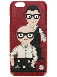 Dolce And Gabbana Designers Patch Iphone 6 Case Red