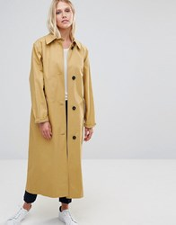 Cooper And Stollbrand Oversized Relaxed Fit Duster Coat In Camel Camel Beige