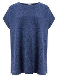 East Ribbed Poncho Jumper Denim Blue