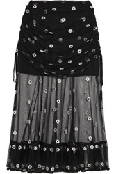 Alice Mccall Le Lady Embroidered Tulle Skirt Black