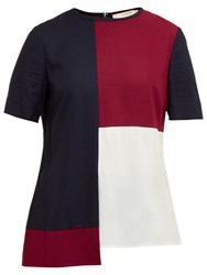 Ted Baker Colour By Numbers Haze Colour Block Top Maroon