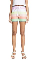 Wildfox Couture Sorbet Stripe Cart Shorts Multi
