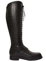 Alberto Fasciani 20Mm Leather Lace Up Riding Boots