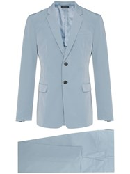Prada Slim Fit Tailored Suit Blue