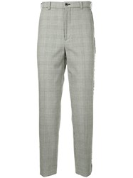 Loveless Straight Leg Checked Trousers Grey