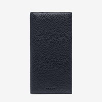 Bally Men's Leather Continental Wallet In Ink Blue
