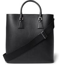 Maison Martin Margiela Full Grain Leather Tote Bag Black
